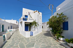 Beautiful streets of Folegandros , Greece Stock Image