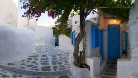 Beautiful streets of  Mykonos , Greece Royalty Free Stock Photos