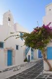 Beautiful streets of  Mykonos , Greece Stock Photos