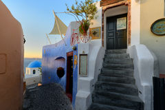 Beautiful streets of Oia , Santorini Stock Photography