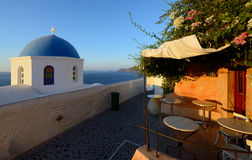 Beautiful streets of Oia village Santorini Stock Images