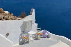 Beautiful streets of oia village Santorini Stock Photos