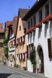 Beautiful streets in Rothenburg ob der Tauber Royalty Free Stock Photography