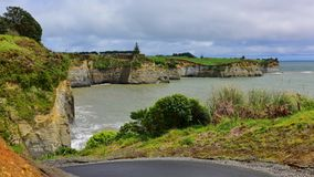Beautiful stretch of White Cliffs along North Taranaki Bight in New Zealand. Beautiful stretch of White Cliffs along North Taranaki Bight in North Island, New royalty free stock photography