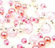beautiful string of beads to background Royalty Free Stock Image