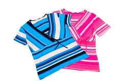 Beautiful striped dress. Royalty Free Stock Photo