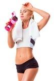 Beautiful strong sportswoman Stock Photography