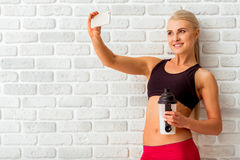 Beautiful strong sportswoman Royalty Free Stock Photos