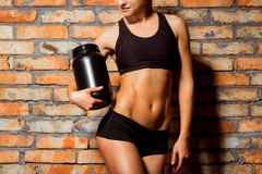 Beautiful strong sportswoman Royalty Free Stock Images