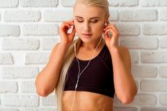 Beautiful strong sportswoman Stock Photo