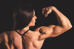 Beautiful strong woman stock photo
