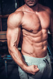Beautiful and strong young muscular guy Royalty Free Stock Photos