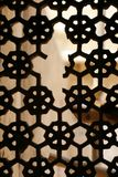 Beautiful structured window in Amber Fort, India Royalty Free Stock Photos