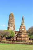 Beautiful Stu pa. And nice blue sky background ,AyutthayaThailand stock photos