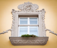 Beautiful stucco work window Royalty Free Stock Image