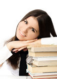 Beautiful student with books Royalty Free Stock Image