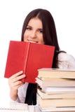 Beautiful student doing homework Royalty Free Stock Photos