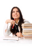 Beautiful student doing homework Royalty Free Stock Photography