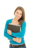 Beautiful student with a folder Royalty Free Stock Image