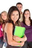 Beautiful student and friends Royalty Free Stock Image
