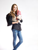 Beautiful student girl. Stock Image