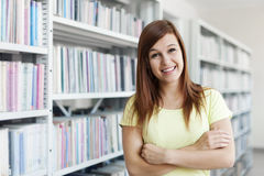 Beautiful student girl Stock Photos