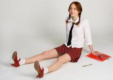 Beautiful student girl royalty free stock image