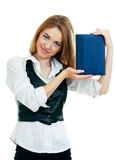 Beautiful student girl with book Royalty Free Stock Photo