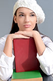 Beautiful student girl with books. Stock Photography