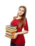 Beautiful student girl holding books Royalty Free Stock Photography
