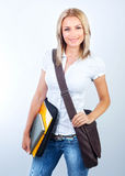Beautiful student girl Royalty Free Stock Images