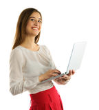 Beautiful student girl  with laptop Stock Photography