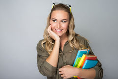 Beautiful student girl Stock Image