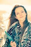 Beautiful student girl Stock Photos