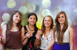 Beautiful student girls royalty free stock photos