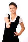 Beautiful student with her thumb up Royalty Free Stock Photography