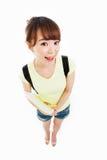 Beautiful student high angle shot Stock Photo