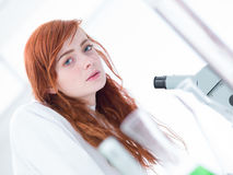 Beautiful student in lab Stock Image