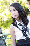 Beautiful student looking away Royalty Free Stock Photos
