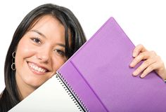 Beautiful student with notebook Royalty Free Stock Photography