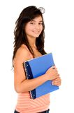 Beautiful student, notebook Royalty Free Stock Photos