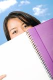 Beautiful student with notebook at uni Royalty Free Stock Photos