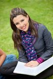 Beautiful student outdoors Royalty Free Stock Photography