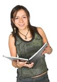 Beautiful student over white Royalty Free Stock Image