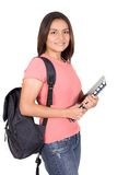 Beautiful student in pink Royalty Free Stock Photos