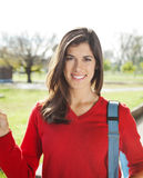 Beautiful Student Smiling On Campus Royalty Free Stock Images