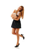 Beautiful student teenager girl friendly Stock Image