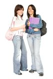 Beautiful students - full body Stock Images