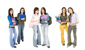 Beautiful students - fullbody Royalty Free Stock Images