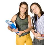 Beautiful students at the library Royalty Free Stock Photo